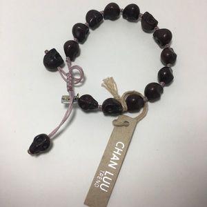 NWT Chan Luu skull adjustable cord bracelet